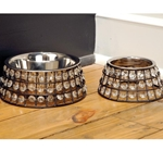 Jeweled Pet Bowl