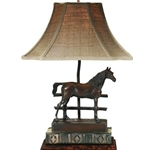 Horse Bronze Table Lamp