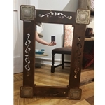 "II-MIRROR-33"" CONCHO SCROLL MIRROR"