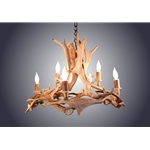 AW-ANTLER CHANDELIER-ROUND FALLOW