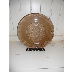 Old World Round Plate