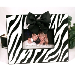 White Zebra Photo Frame