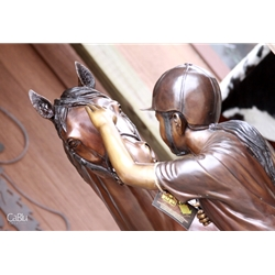 Girl & Horse Statue