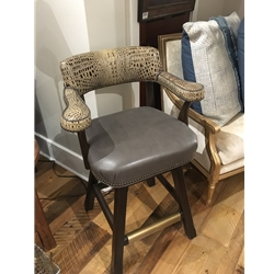 ML-22 BARSTOOL-CROCO STEEL BROWN
