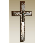 Large Hammered Cross