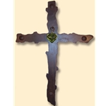 Green Heart Cross
