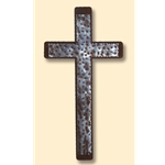 "9""x18"" Hammered Cross on Cross on Patina"