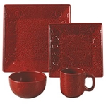 Red Savannah Dish Set